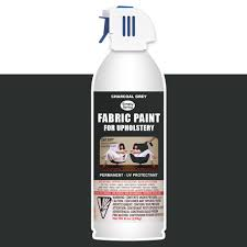 teindre tissu canapé upholstery spray fabric paint 8oz charcoal grey amazon fr sports