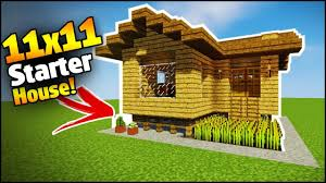 build a house minecraft 11x11 starter house tutorial how to build a house in