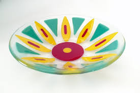 fused glass flower bowl fused glass dish fruit bowl