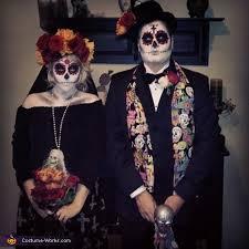 Sugar Skull Halloween Costumes Skull Couple Costume