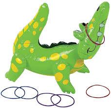 amazon com fun express inflatable alligator ring toss game 22
