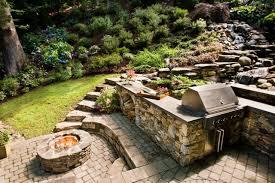 Backyard Grill Ideas by Home Design Square Fire Pit Grill Ideas Concrete Cabinets Square