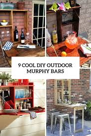 9 cool diy outdoor murphy bars for refreshing outside shelterness