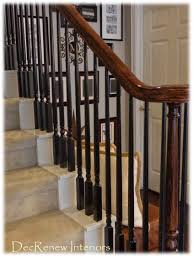 Decorating Staircase by Paint Your Spindles Black For A Dramatic Change Decorating In A