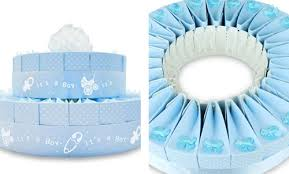 baby shower kits 2 tier baby shower favor cake kit it s a boy favor cake kit