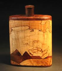 cool wooden flask on the hunt