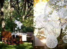 Paper Lantern Chandelier Backyard Wedding By Gia Canali Ii Paper Lanterns White