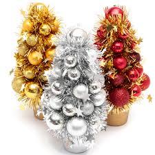 mini christmas tree decor plastic christmas tree baubles