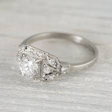 deco engagement ring 73 carat vintage deco engagement ring best vintage