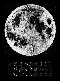2018 moon calendar lunar calendar silver moon print