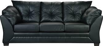 The Brick Leather Sofa Sofa Max En Similicuir Noir Faux Leather Sofa Living Room