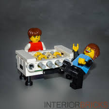lego foosball table set custom white with instructions