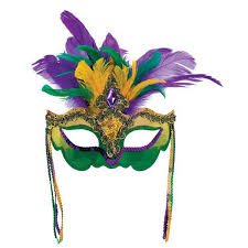 mardi mask mardi gras feather venetian mask party time baton