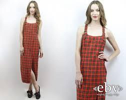 90s dress 90s plaid maxi dress 90s plaid dress tartan plaid dress 90s