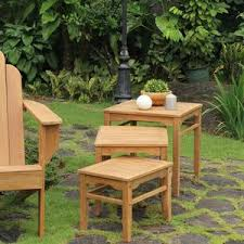 outdoor furniture side table richmond teak nesting side table cambridge casual