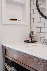 gorgeous subway tile in kitchen with granite countertops and
