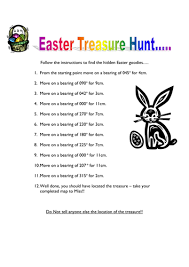 easter scavenger hunt bearings easter treasure hunt by helbel11 teaching resources tes