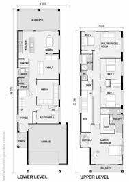 Duplex House Plans For Narrow Lots Narrow But Large 2 Storey Home With 5 Bedrooms Plus A Study And 3