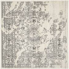 Area Rug Square Area Rugs Square Grey Black Floral Pattern Antique Adorable
