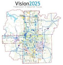 map of tulsa vision2025 economic development and capital improvement for