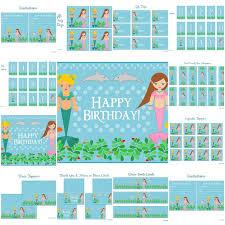 154 best little mermaid birthday printables images on pinterest