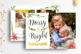 christmas card photographer template card templates creative