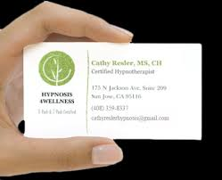 Hypnotherapy Business Cards Hypnosis 4wellness 5 Path U0026 7 Path Certified Cathy Resler