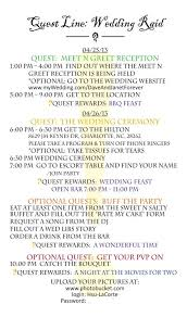 Wedding Itinerary For Guests Wow Themed Guest Itinerary Weddingbee