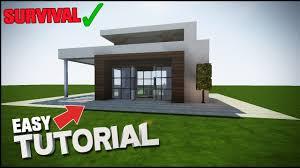 Modern House Minecraft Minecraft House Tutorial Simple Easy Modern House Best House