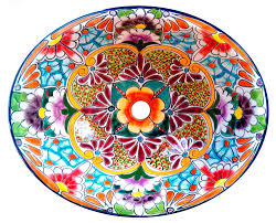 134 small bathroom sink 16x11 5 mexican ceramic hand paint drop in