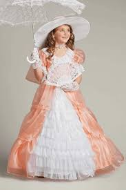 Halloween Belle Costume Peachy Southern Belle Costume Girls Southern Belle Costume