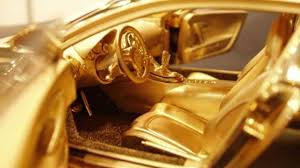 car bugatti gold gold bugatti veyron 1 18 scale model costs 2 million motor1 com