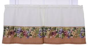 Grapes Kitchen Curtains Amazon Com Ellis Curtain Kitchen Collection Tuscan Hills Grapes