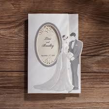 Design Wedding Invitation Cards Aliexpress Com Buy Silver Couples Design Wedding Invitation