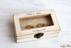 personalized wooden jewelry box wedding ring box decoupage box ring bearer box jewelry box