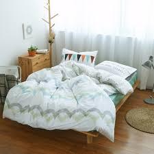 aliexpress com buy 100 cotton stripes wave bedding set green bed