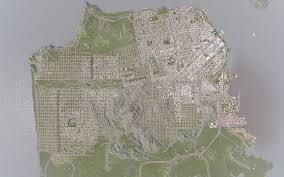 San Francisco Planning Map by Ambitious Player Recreates San Francisco In City Building Sim