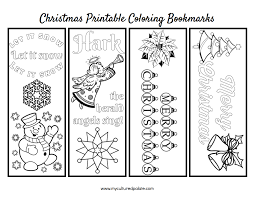 free christmas bookmarks to color cultured palate
