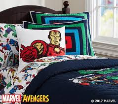 Superhero Twin Bedding Marvel Quilt Pottery Barn Kids