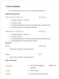 resume resume format skills based basic template free samples