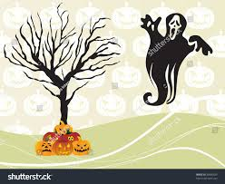 abstract seamless pumpkin background retro tree stock vector