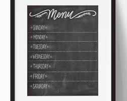 Retro Chalkboards For Kitchen by Menu Board Etsy