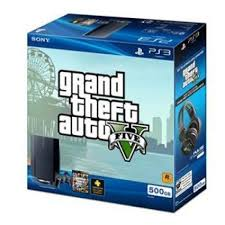 ps3 gaming console sony playstation 3 slim grand theft auto v 500gb black
