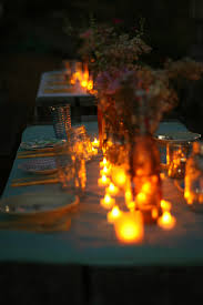 image gallery night outdoor dinner party
