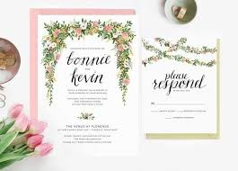 wedding invitations floral stylish floral wedding invitations mywedding
