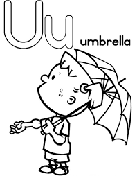 littel with umbrella alphabet coloring pages free alphabet