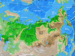 Geography Of Russia by Russia Physical Map Geography Of Russia Landforms World Atlas
