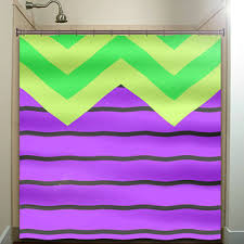 Green Chevron Shower Curtain Best Purple Chevron Shower Curtain Products On Wanelo