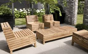 Low Patio Furniture - beautiful wood patio conversation furniture set with long narrow