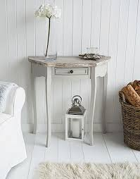 small half moon console table with drawer bridgeport grey half moon console table shabby chic dressers